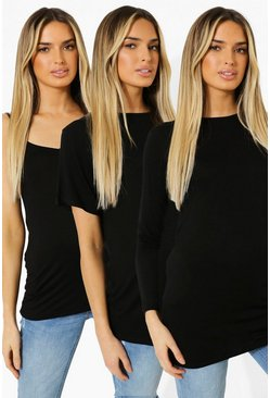 Black Maternity Top Essentials Pack