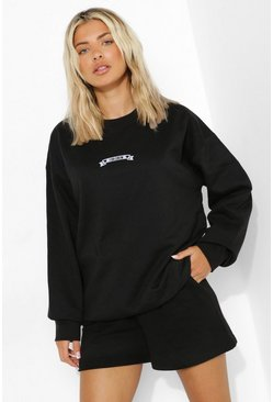 Black I Do Crew Bridal Sweat