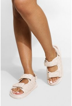 Nude Quilted Sporty Dad Sandal
