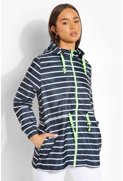 Navy Stripe Print Mac