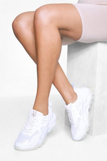 Nude Translucent Sole Chunky Trainer