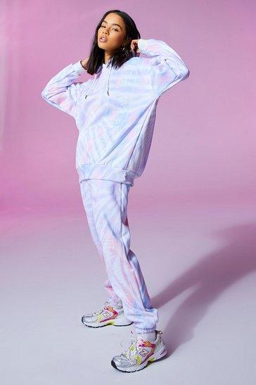 Pink C'est La Vie Tie Dye Joggers