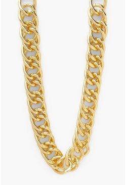 Gold metallic Chain Tight Link Oversized Chain