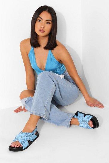 Blue Bandana Crossover Dad Sandal
