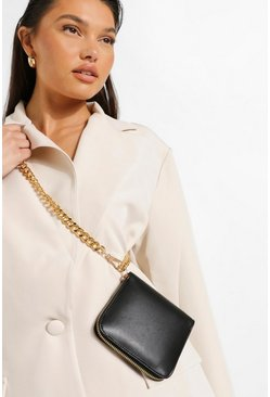 Belt Purse Pocket Chain Bag, Black negro