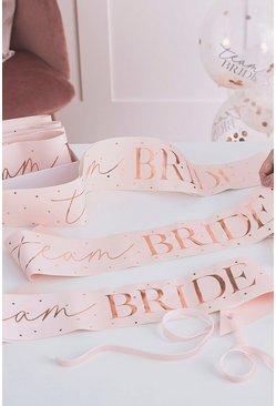 Pink Ginger Ray Team Bride Sash 6 Pack