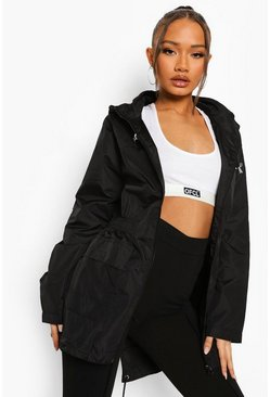 Black Hooded Mac