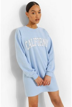 Blue California Sweat Dress