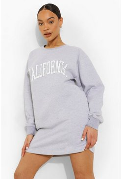 Grey marl grey California Sweat Dress