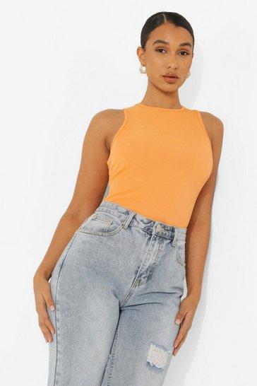Orange Recycled Racer Bodysuit