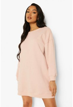Blush pink Loose Fit Sweater Dress