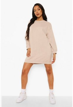 Stone beige Loose Fit Sweater Dress