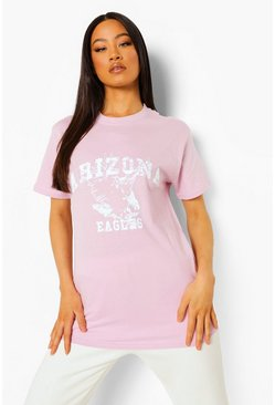 Lilac purple Arizona Printed Oversized T-shirt