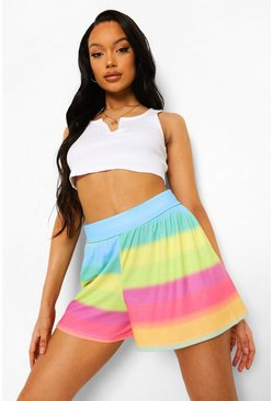 Multi Stripe Flippy Short