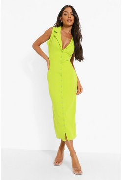 Lime green Midaxi Shirt Dress