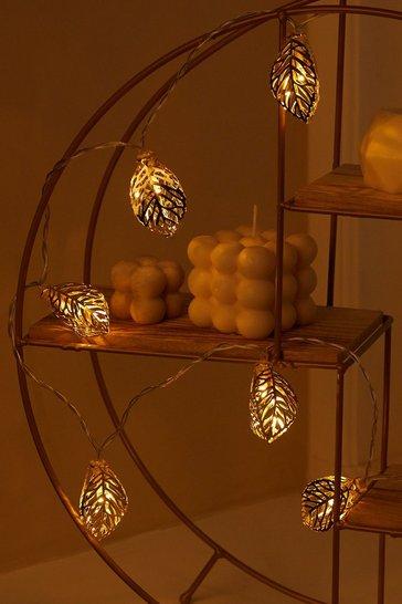 Gold metallic Leaf Design Fairy Lights
