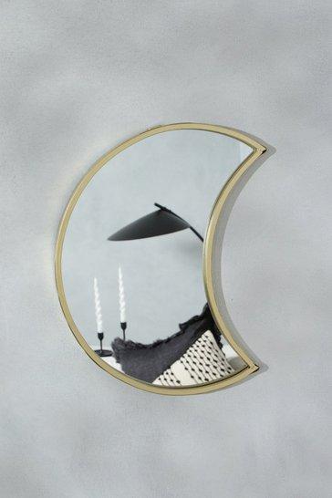 Gold metallic Moon Shape Mirror