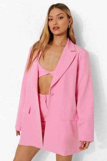 Pink Relaxed Fit Blazer