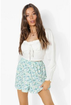 Blue Floral Flippy Shorts