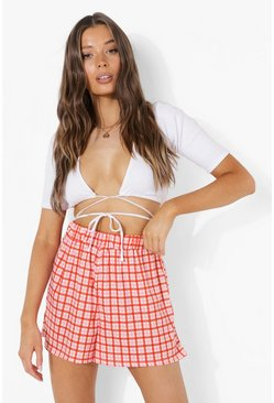 Pink Check Flippy Shorts