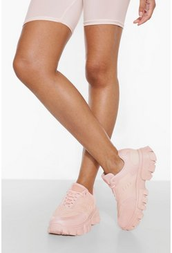 Light pink pink Cleated Sole Trainer