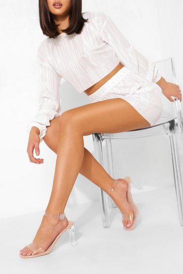 Nude Clear 2 Part Sandal