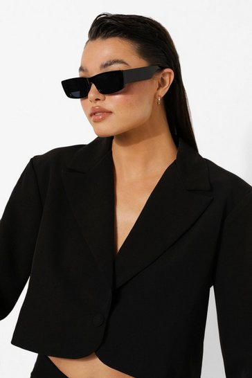 Brown Super Slim Black Lens Glasses