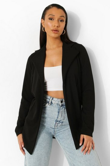 Black Oversized Boyfriend Blazer