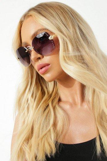 Black Stud Coloured Lens Tinted Sunglasses