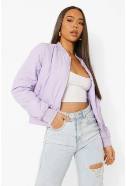 Lilac purple Pastel Bomber Jacket