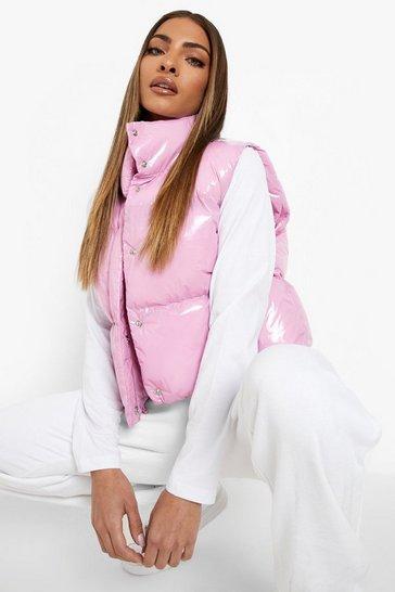 Pink High Shine Gilet