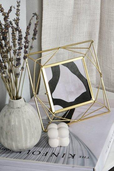 Trapeze Gold Square Photo Frame