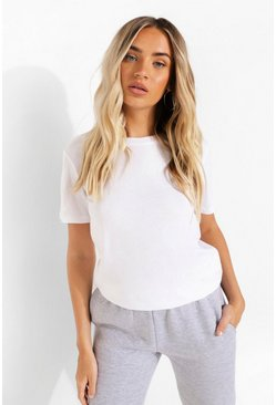 White Oversized Crew Neck T Shirt