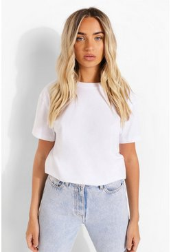 White Oversized Short Sleeve T Shirt