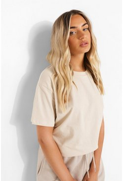Stone Oversized Short Sleeve T Shirt