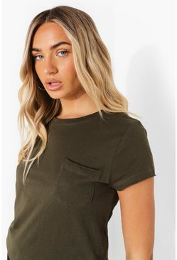 Khaki Short Sleeve T Shirt