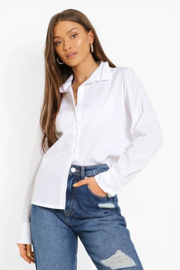 Ivory Relaxed Fit Cotton Poplin Shirt