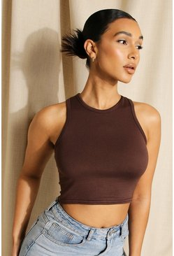 Chocolate Racer Crop Top