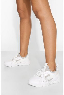 White Sporty Chunky Trainer