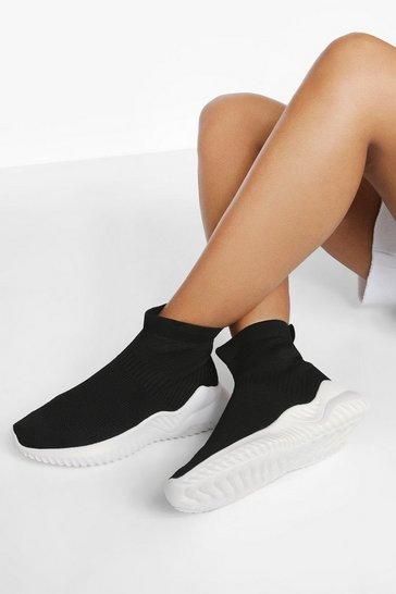 Black Woman Script Sock Trainer