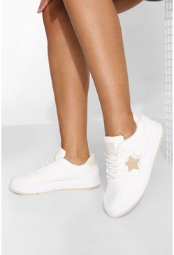 Beige Star Low Top Trainer