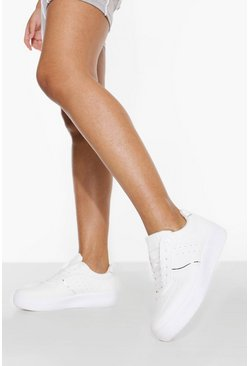 White Contrast Panel Platform Trainer