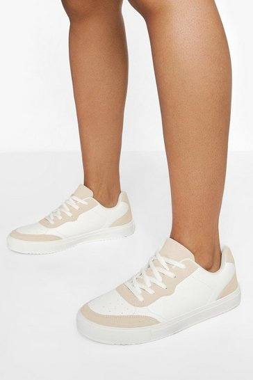 Nude  Low Top Lace Up Trainers