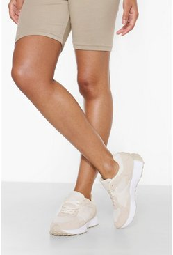 Beige Panelled Runner Trainer