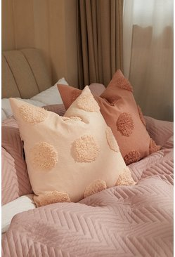 Nude Applique Flower Design Cushion
