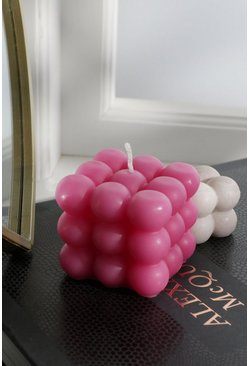 By Ohemaa Bobble Square Candle Pink