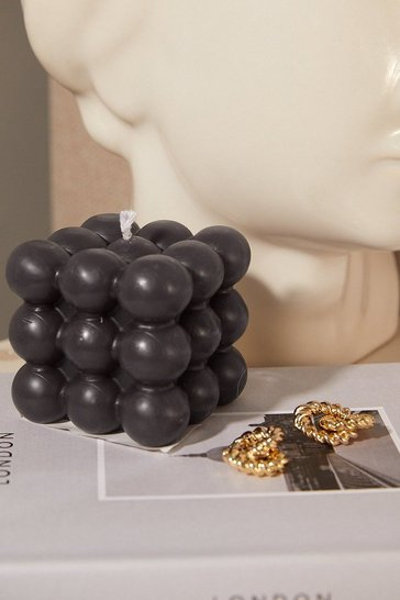By Ohemaa Bobble Square Candle Black