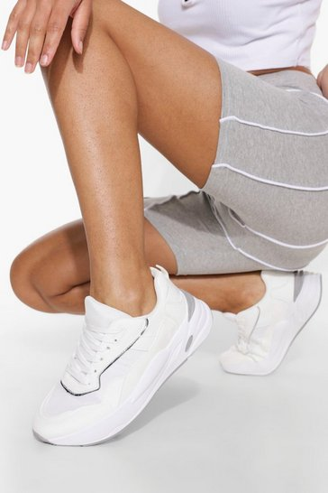 White Chunky Contrast Trainer