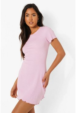 Pink Lettuse Edge Mini Bodycon