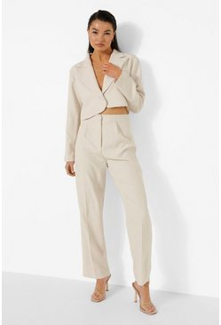 Sand Relaxed Fit Tailored Trousers